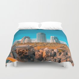 South Pointe Pier Duvet Cover