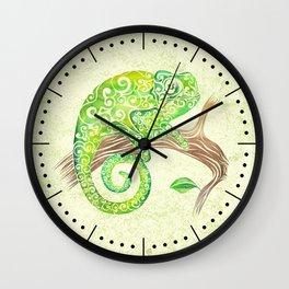 Swirly Chameleon Wall Clock