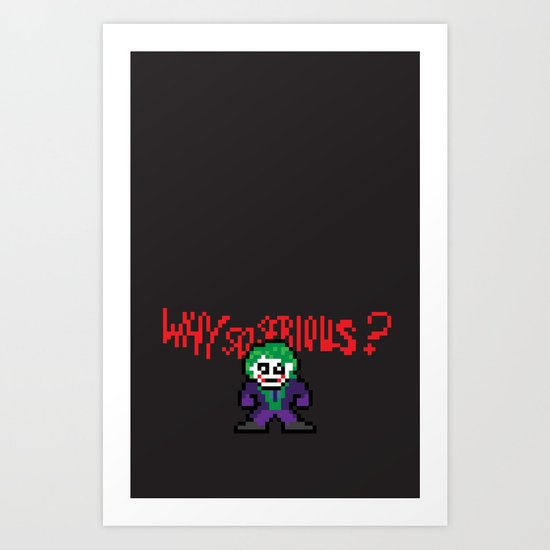The Dark Pixel Art Print