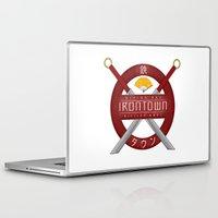 studio ghibli Laptop & iPad Skins featuring IRONTOWN - Studio Ghibli by Aonair Designs