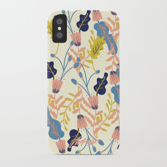 Pastel Floral Pattern iPhone Case