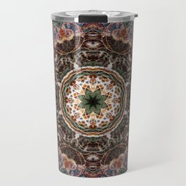 Mandala with ammonites Travel Mug
