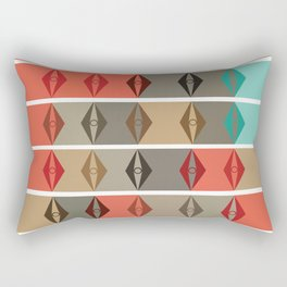Mid-Century Pattern No. 64 Rectangular Pillow