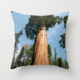 General Sherman Tree Throw Pillow