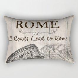 Vintage Travel Poster Rome Rectangular Pillow