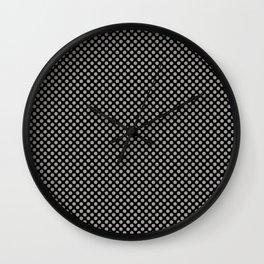 Black and Paloma Polka Dots Wall Clock
