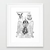 freud Framed Art Prints featuring Freud. by Philip Dearest