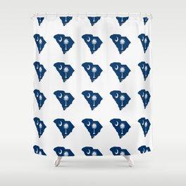 flag of south carolina 3-Savannah,Palmetto,Carolinian,Cotton,South,South carolina,Carolina Shower Curtain