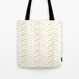 Art Deco Series - Gold & White Tote Bag