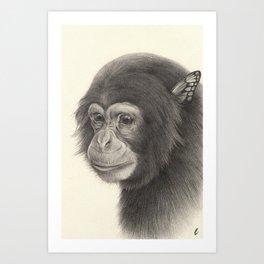 """Bloomers"" series, I (Chimpanzee) Art Print"