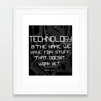 technology Framed Art Prints featuring Technology by Hollie B
