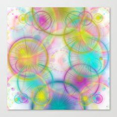 many colorful circles and lights Canvas Print