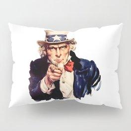Uncle Sam Pointing Finger Pillow Sham