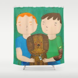 Dean, Steve and Luci Shower Curtain