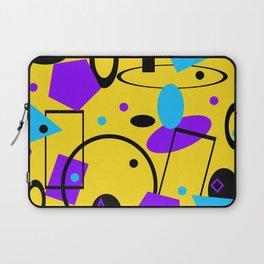 Retro abstract print yellow Laptop Sleeve