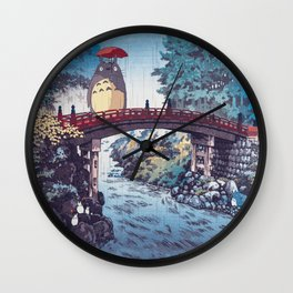 My neighbour Toto vintage japanese mashup Wall Clock