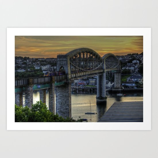 The Royal Albert Bridge  Art Print
