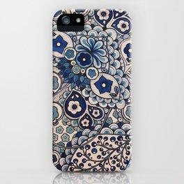 Blue Paisley iPhone Case