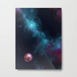 Lonely in space Metal Print