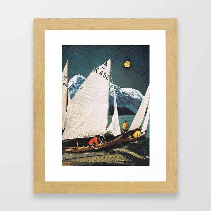"""Moon"" Framed Art Print"