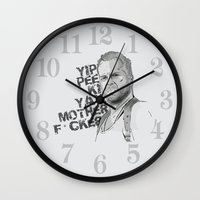 bruce springsteen Wall Clocks featuring Bruce by Vickn