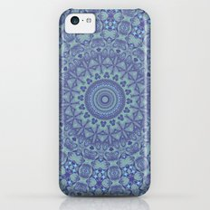 Shades of blue mandala iPhone 5c Slim Case