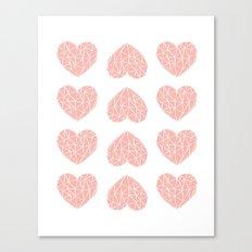 Geometric Heart Pattern Canvas Print
