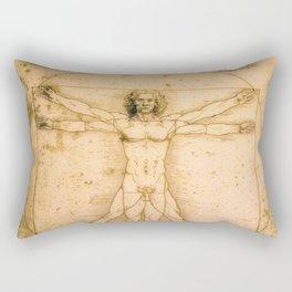 Vitruvian Man by Leonardo da Vinci Rectangular Pillow