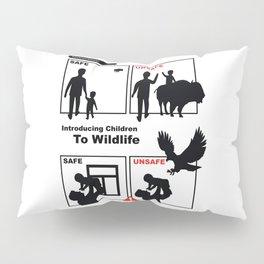 Introducing Children to Wildlife Safe Unsafe Pillow Sham