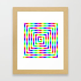 12 Color Square Spiral Framed Art Print