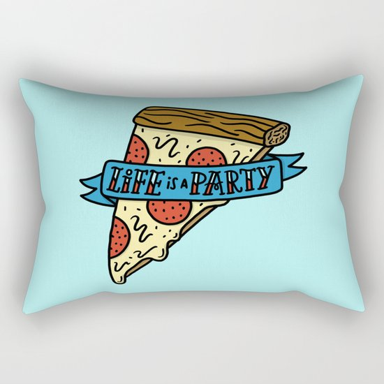 Life is a Pizza Party Rectangular Pillow