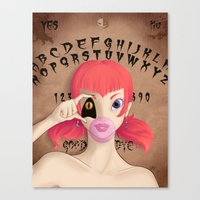 "ouija Canvas Prints featuring ""Ouija"" by ZombieTeddie"