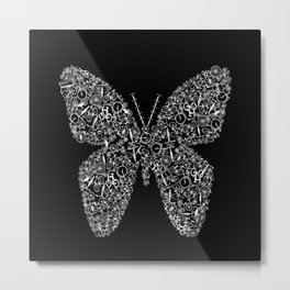 Butterfly From Bicycles Bike Metal Print