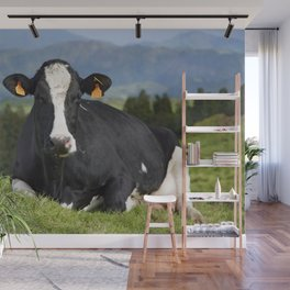 Cow portrait Wall Mural
