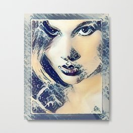 Seductive Waves Metal Print
