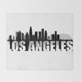 Los Angeles Silhouette Skyline Throw Blanket