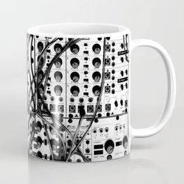 analog synthesizer system - modular black and white Coffee Mug