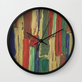 Abstract Art Painting Old Boards by Jeanette Reynolds Cullum Wall Clock