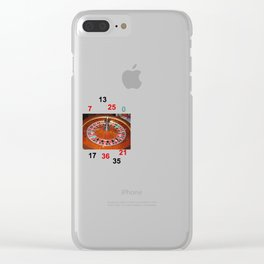 Wooden Roulette wheel casino gaming Clear iPhone Case