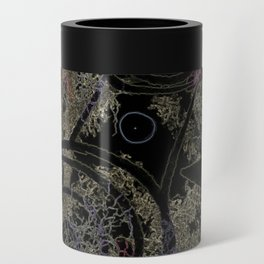 Circles in Black Can Cooler