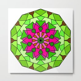 Mandala - spiritual and ritual symbol in Buddhism Metal Print