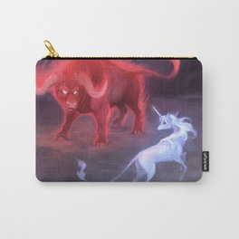 Unicorn and Bull Carry-All Pouch