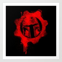 gears of war Art Prints featuring Gears of Fett by leea1968