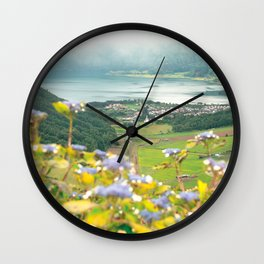 Sete Cidades crater lake Wall Clock