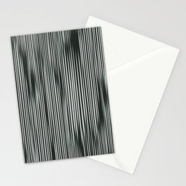 soft and moody tonal ikat stripes Stationery Cards