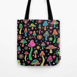 Rainbow Mushrooms Tote Bag