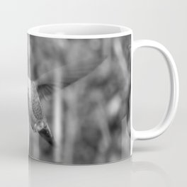 Hummingbird and the Flower- Black and White Coffee Mug