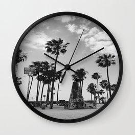 ~Palm trees on the beach~ Wall Clock
