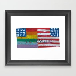 Flags For The Future 4: Power To The People Framed Art Print