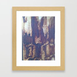 telephone pole grain Framed Art Print